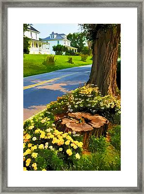 Framed Print featuring the photograph Westchester Avenue by Dana Sohr
