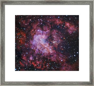 Westerlund 2 Gum 29 Star Cluster Framed Print by Robert Gendler