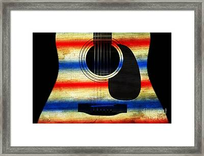 Western Abstract Guitar 1 Framed Print