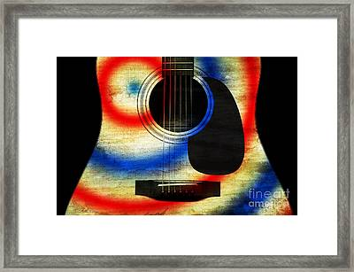 Western Abstract Guitar 2 Framed Print