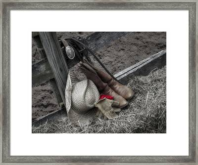 Western Accessories Framed Print by Susan Candelario