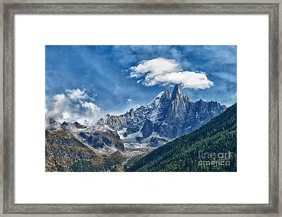 Western Alps In Chamonix Framed Print