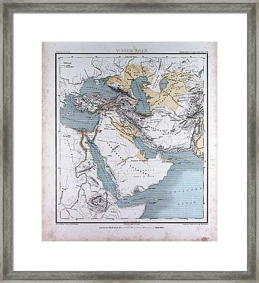 Western Asia Or West Asia Framed Print by Litz Collection