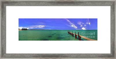 Framed Print featuring the photograph Western Australia Busselton Jetty by David Zanzinger