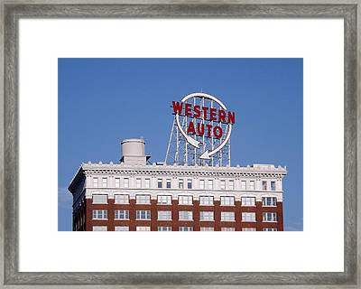 Western Auto Building Of Kansas City Missouri Framed Print