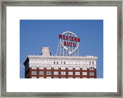 Western Auto Building Of Kansas City Missouri Framed Print by Elizabeth Sullivan