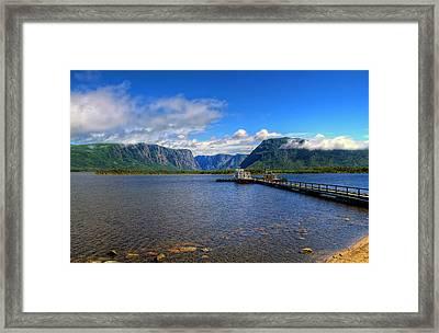 Western Brook Fjord. Framed Print