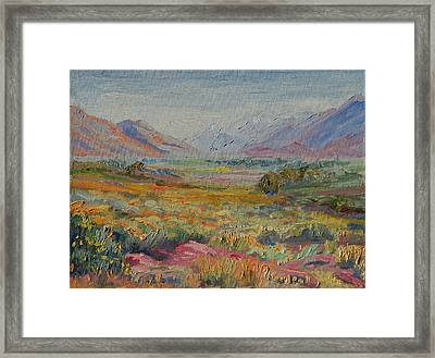 Western Cape Mountains Framed Print