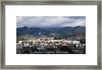 Western Carolina University Winter  Framed Print