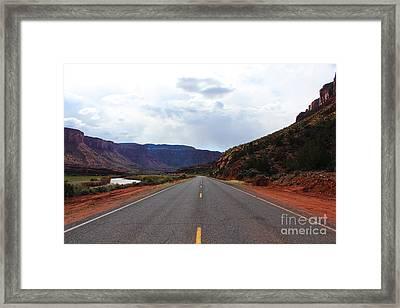 Western Colorado Drive Framed Print