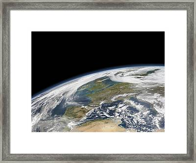 Western Europe, Satellite Image Framed Print by Science Photo Library