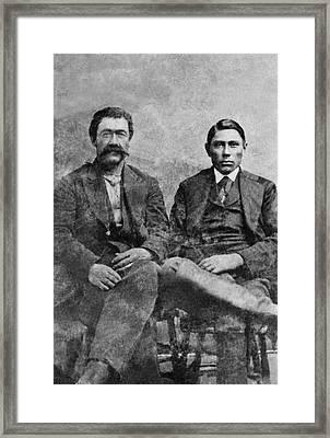 Western Frontiersmen Framed Print by Underwood Archives