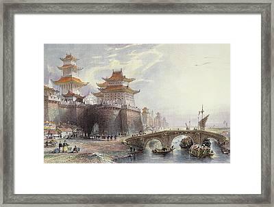 Western Gate Of Peking, C.1850 Framed Print