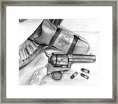 Western Guns Framed Print