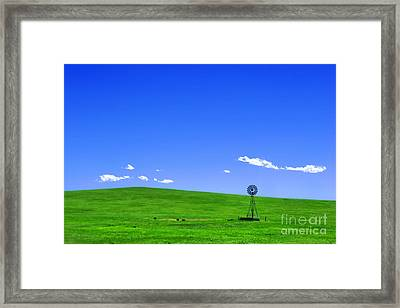 Western Hill  Framed Print by Olivier Le Queinec