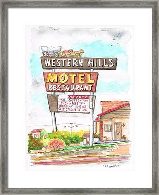 Western Hills Motel In Route 66 Flagstaff - Arizona Framed Print