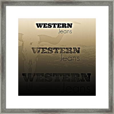 Western Jeans Framed Print by Chastity Hoff