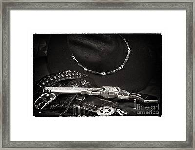 Western Justice Framed Print by John Rizzuto