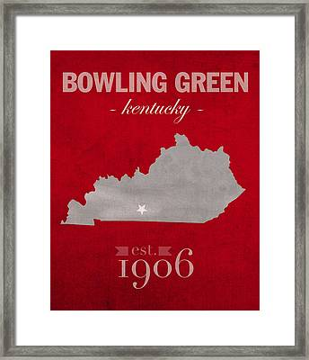 Western Kentucky University Hilltoppers Bowling Green Ky College Town State Map Poster Series No 125 Framed Print