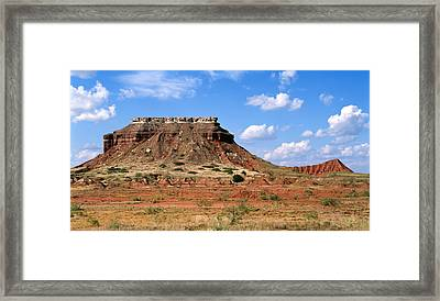 Lone Peak Mountain Framed Print