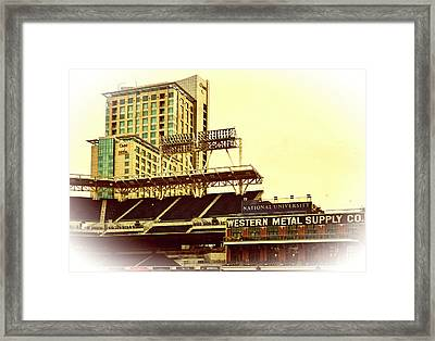 Western Metal-petco Park Framed Print by See My  Photos