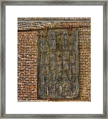 Western Metal Supply Door Framed Print by Photographic Art by Russel Ray Photos