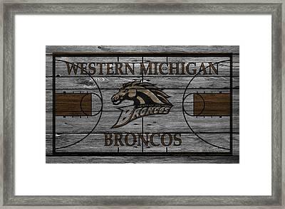 Western Michigan Broncos Framed Print by Joe Hamilton