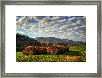 Western North Carolina Hay Field Framed Print