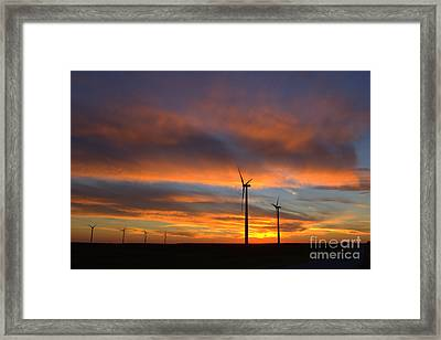 Framed Print featuring the photograph Western Oklahoma Skies 1 by Jim McCain