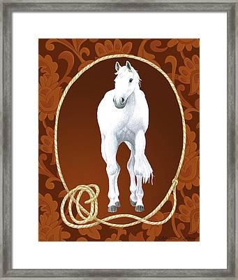 Western Roundup Standing Horse Framed Print