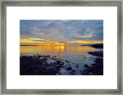 Western Sky Framed Print by Kathy King