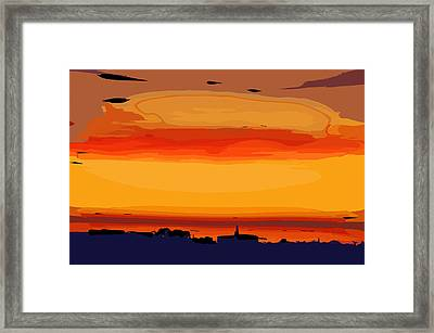Framed Print featuring the digital art Western Sky by Kirt Tisdale