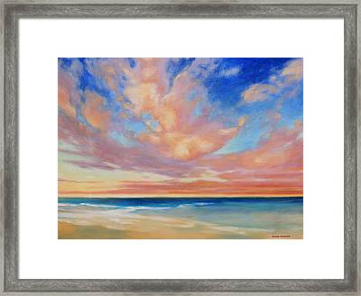Framed Print featuring the painting Western Skys by Andrew Danielsen