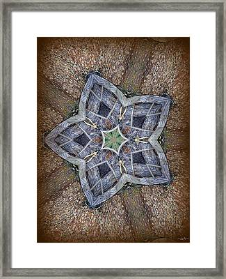 Western Star Framed Print by Michelle Frizzell-Thompson