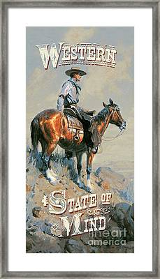 Western State Of Mind Framed Print by james Piazza