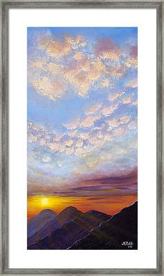 Framed Print featuring the painting Western Sunset by Margaret Bobb