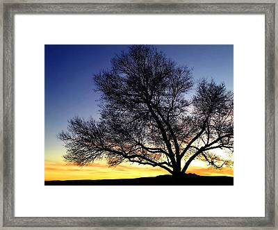 Western Sunset Framed Print