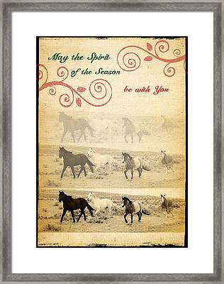 Western Themed Christmas Card Wyoming Spirit Framed Print