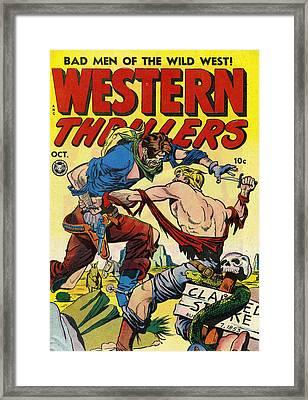 Western Thrillers Framed Print