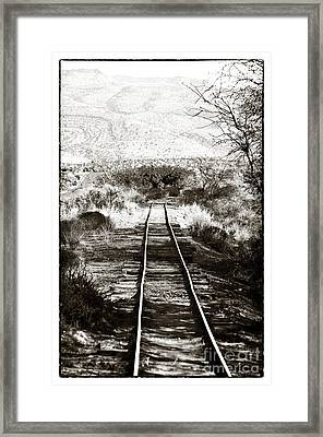 Western Tracks Framed Print by John Rizzuto