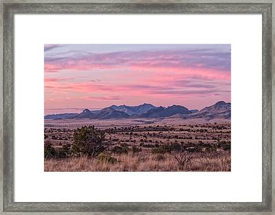 Western Twilight Framed Print by Beverly Parks