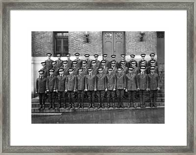 Western Union Messengers Framed Print by Underwood Archives