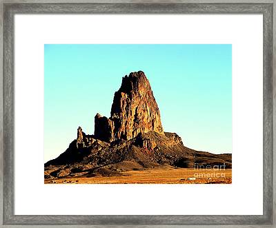 Western Usa Butte Framed Print by John Potts