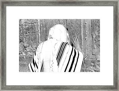 Western Wall Devotion Framed Print