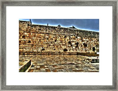 Framed Print featuring the photograph Western Wall In Israel by Doc Braham
