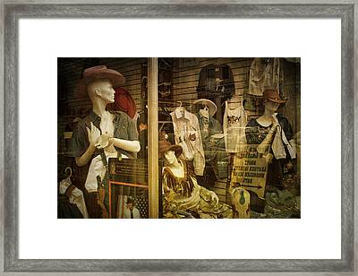 Western Window Display In Nashville Tennessee Framed Print by Randall Nyhof