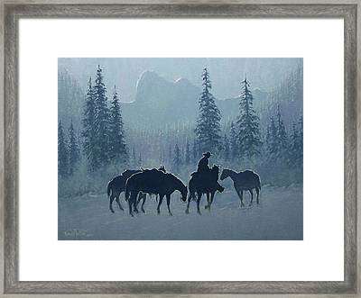 Western Winter Framed Print by Randy Follis