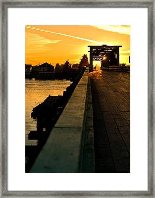 Westham Island Bridge Framed Print