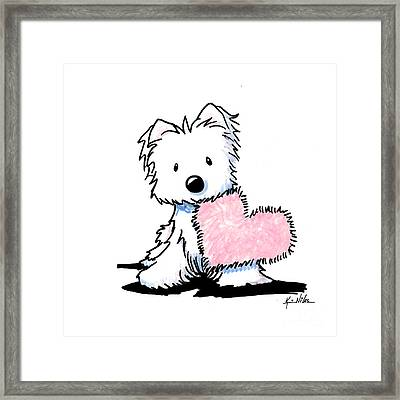 Westie Heart And Soul Framed Print