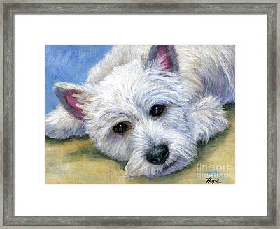 Westie Framed Print by Hope Lane